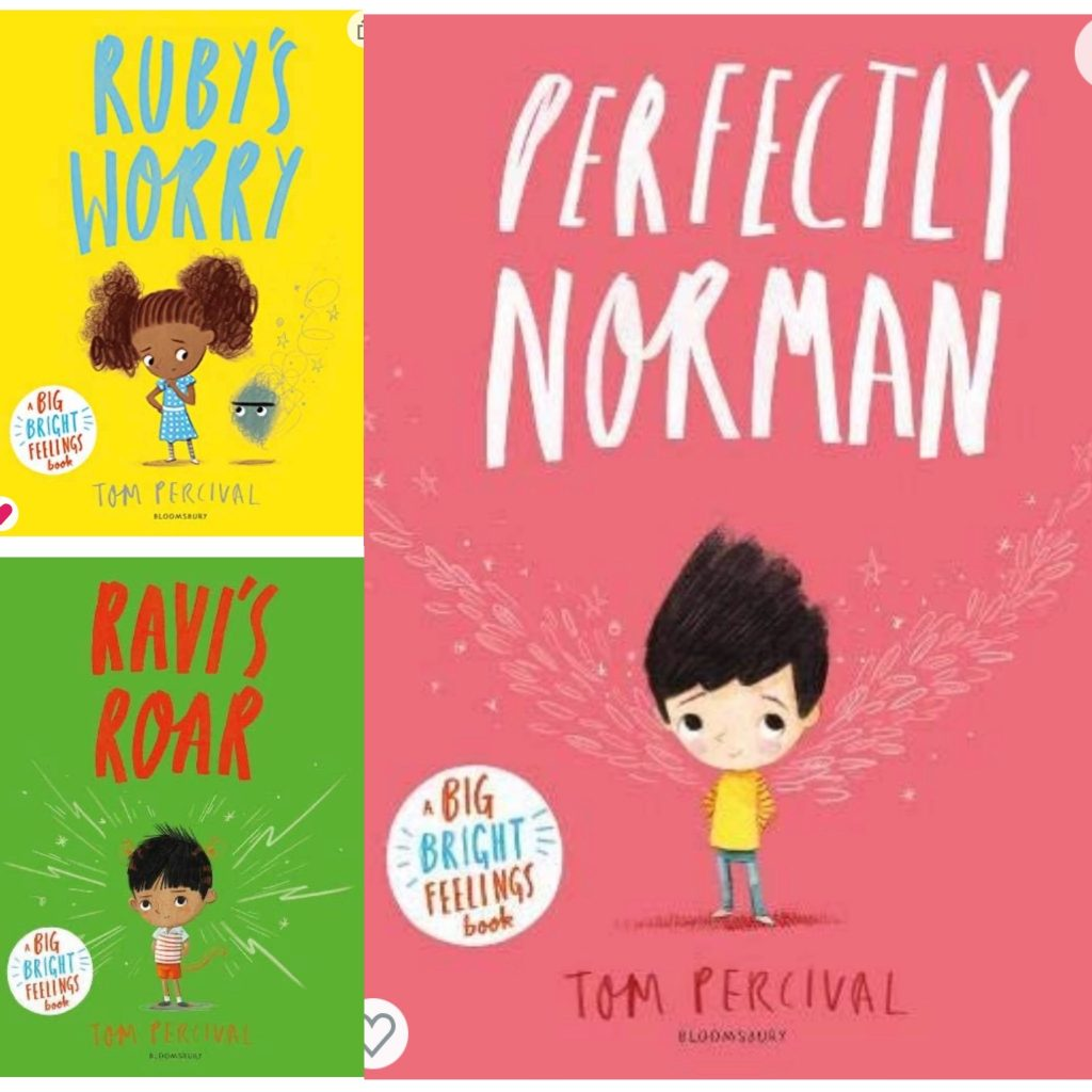 Collection of books by Tom Percival